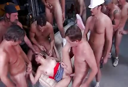 One girl and many guys