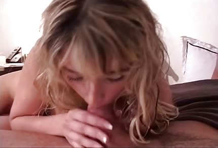 Blonde girl is giving her best