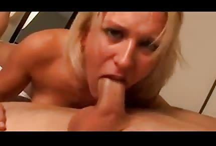 Hot blonde woman is sexy thongs