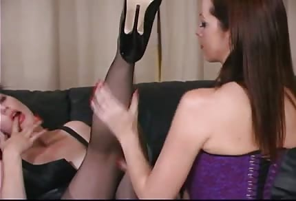 She likes to lick her feet