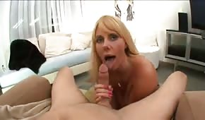Mommy is showing her big tits