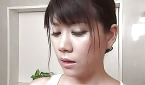 Asian chick in the bathroom