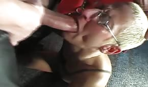 Brutal play with an ugly blonde