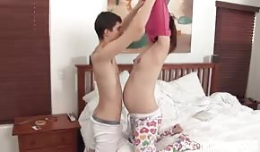 Morning fun with a pregnant partner