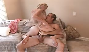 Silicone Allison Pierce rides a dick