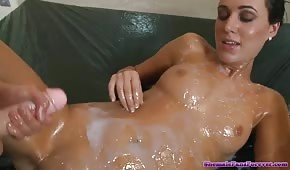 Crazy lesbians play with sperm