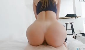 A perfect ass for a sweet ice cream