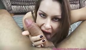 A wild bitch takes a penis in her mouth