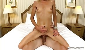 Sex with skinny and mature blondie