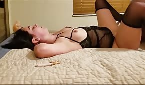The cane in stockings likes to be fucked sharply