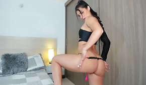 A sexy show of a charming 18-year-old girl