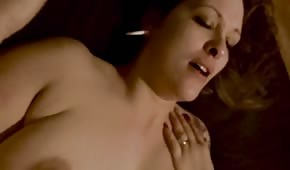 Intoxicating sex with a chubby brunette