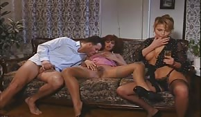 Group porn with retro babes