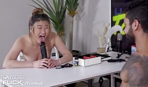 Porn game with a blonde chick