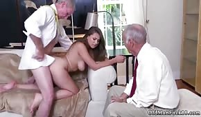 Natural lady fucked by grandpa