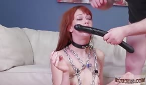 The red-haired bitch licked the anal hole