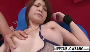 With vibrators on the body of a hot Asian girl