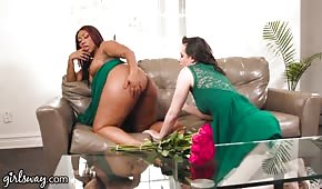 She licked the holes of a mega sexy black girl