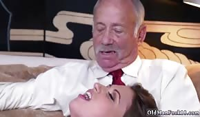 Busty brunette pleases her grandparents