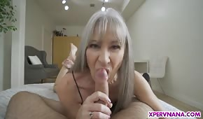 Wild sex with a skinny mommy